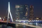 Te Koop | De skyline van Rotterdam met de Erasmusbrug en De Rotterdam