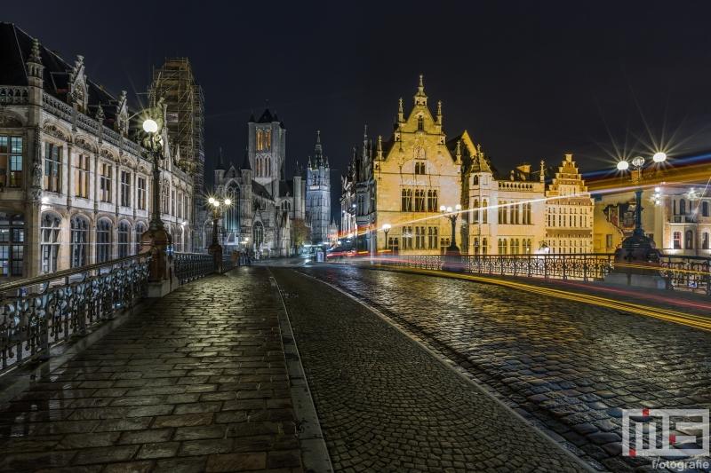 Te Koop | De Sint Michielsbrug in Gent in de nacht