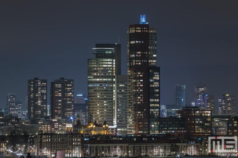 De Wilhelminapier in Rotterdam by Night