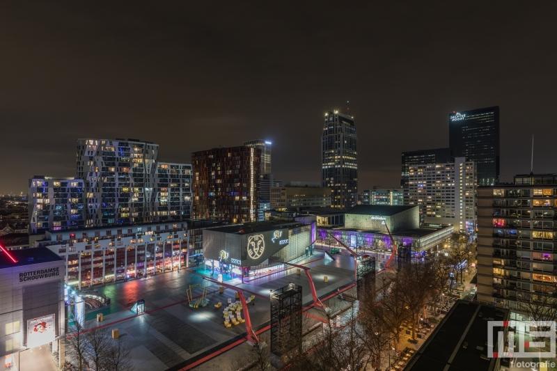 Te Koop | Het Schouwburgplein tijdens het IFFR in Rotterdam by Night