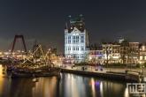 Te Koop | Het Witte Huis en de Willemsbrug in Rotterdam by Night