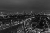 Te Koop | De Metro richting Maasshaven en Zuidplein in Rotterdam by Night