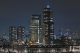 De Wilhelminapier in Rotterdam by Night