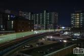 De Metro richting Zuidplein in Rotterdam by Night