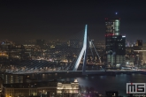 Te Koop | De Erasmusbrug en Maastoren in Rotterdam by Night