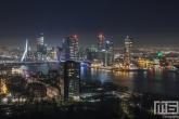 Te Koop | De skyline van Rotterdam tijdens de nachtelijke uren