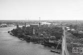 Te Koop | De skyline in Rotterdam met de Erasmusbrug in zwart/wit