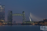 Te Koop | De Hef en de Erasmusbrug in Rotterdam by Night