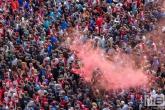 De huldiging van landskampioen Feyenoord op de Coolsingel in Rotterdam
