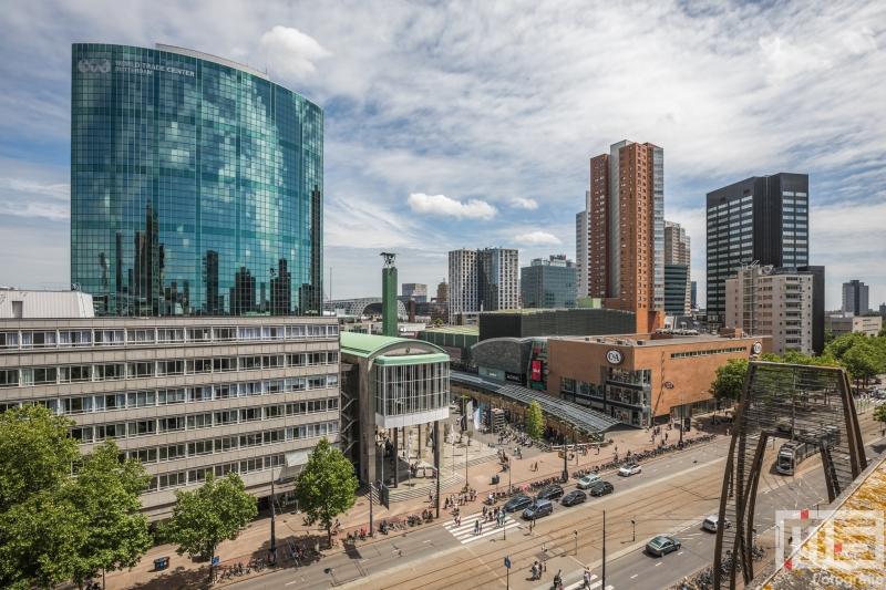 Te Koop | Het uitzicht vanaf de Beijenkorf op het WTC Rotterdam