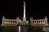 Het Millennium Memorial op Hero Square in Budapest