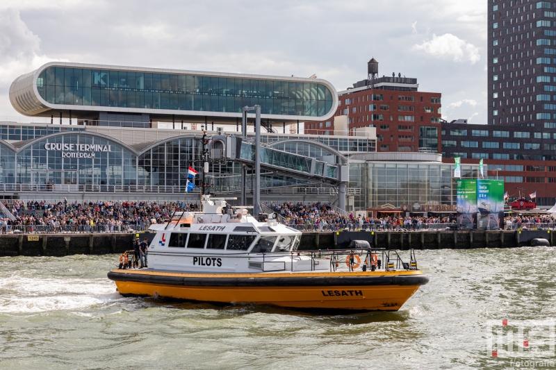 Het schip Lesath van Loodswezen tijdens de Wereldhavendagen in Rotterdam