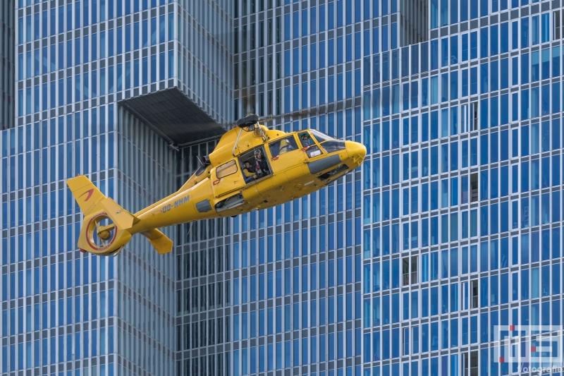 De demonstratie van de SAR helikopter tijdens de Wereldhavendagen in Rotterdam