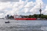 Het Offshoreschip Bigroll Baffin in Rotterdam tijdens de Wereldhavendagen