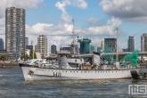 De demonstratie van de Marine met het Rotterdamse schip Castor tijdens de Wereldhavendagen