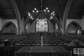 De binnenkant van de Grote Kerk in Rotterdam Overschie tijdens de Open Monumentendag
