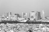 Te Koop | La Défense vanuit de Eiffeltoren in Parijs in zwart/wit