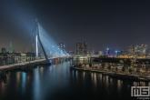 Te Koop | De Erasmusbrug in Rotterdam in Rotterdam met de Euromast in groene kleur