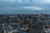 Te Koop | Een panorama van Rotterdam Centrum tijdens het blauwe uurtje