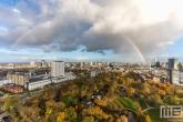 Te Koop | Het Park en het Erasmus MC in Rotterdam met een regenboog