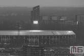 Te Koop | Een detailfoto van het Feyenoord Stadion De Kuip in Rotterdam-Zuid in zwart/wit