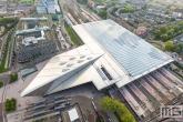 Te Koop | Het Centraal Station van Rotterdam als luchtfoto