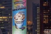 Ben and Jerry's Roffa ijs op een doek op de Willemswerf in Rotterdam