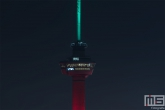 De Euromast in Roterdam in kleuren rood/groen