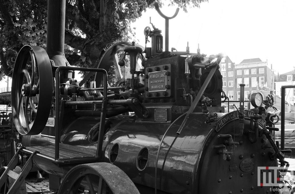 Een stoommachine in Dordt in Stoom in Dordrecht