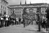 De militaire parade in het Prazsky Hrad in Prague