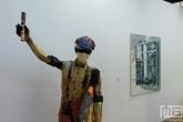 Een artistiek beeld tijdens Art Rotterdam in de Van Nelle Fabriek in Rotterdam