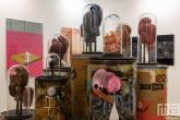 Een kunstobject tijdens Art Rotterdam in de Van Nelle Fabriek in Rotterdam