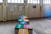 Hink-Stap-Sprong spel in kleur in het HAKA-gebouw in Rotterdam tijdens Art Rotterdam