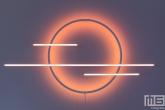 Led-verlichting als kunstobjekt in het HAKA-gebouw in Rotterdam tijdens Art Rotterdam