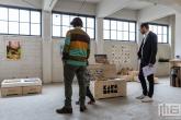 Karo+Boom speelgoed voor kinderen in het HAKA-gebouw in Rotterdam tijdens Art Rotterdam
