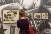 Een serie artistieke fotolijstjes tijdens Art Rotterdam in de Van Nelle Fabriek in Rotterdam