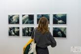 Een achttal kunstzinnige sumoworstelaar in lijst tijdens Art Rotterdam in de Van Nelle Fabriek in Rotterdam