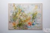 Een schilderij in het Witte de With Center for Contemporary Art in Rotterdam tijdens Museumnacht010