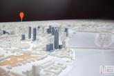 De maquette van de stad Rotterdam tijdens Museumnacht010 in Rotterdam in het Schielandshuis