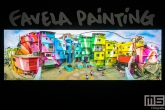 Een realistisch schilderij van kunstenaarscollectief Favela Painting in de Kunsthal in Rotterdam