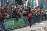 De winnaar Marius Kipserem van de Marathon Rotterdam 2019 in Rotterdam