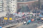 De start van de Marathon Rotterdam 2019 aan de voet van de Erasmusbrug