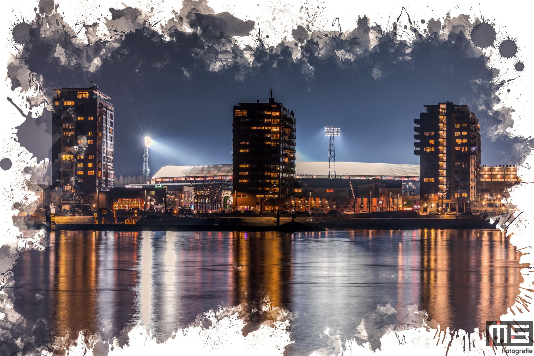 Te Koop   Een detailfoto van het Feyenoord Art Stadion De Kuip