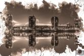 Te Koop | Het Feyenoord Art Stadion De Kuip in Rotterdam in reflectie