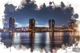 Te Koop | Het Feyenoord Art Stadion De Kuip in Rotterdam vanaf het water