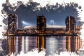 Te Koop | Een detailfoto van het Feyenoord Art Stadion De Kuip