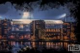 Te Koop | Het Feyenoord Art Stadion De Kuip in Rotterdam tijdens een speelavond