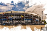 Te Koop | Het Feyenoord Art Stadion De Kuip in Rotterdam in kleur wit