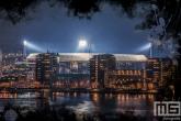Te Koop | Een Feyenoord Art Stadion De Kuip in Rotterdam luchtfoto tijdens een speelavond