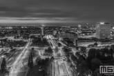 Het Droogleever Fortuynplein in Rotterdam by Night